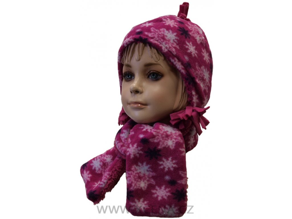 Zimní dětský komplet, čepice a šála