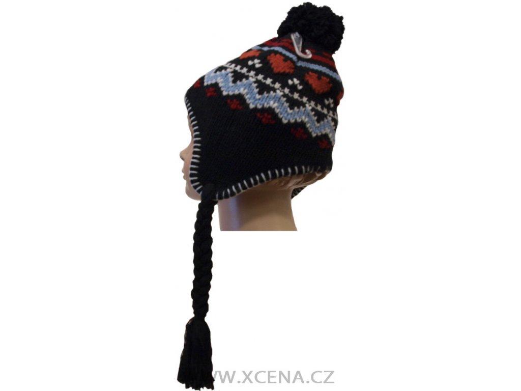 Dětská teplá čepice, podšitá fleecem