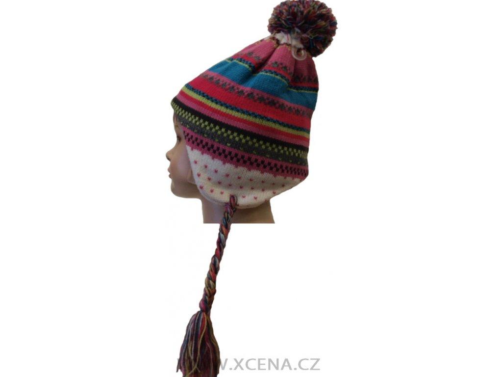Zimní čepice, podšitá fleecem