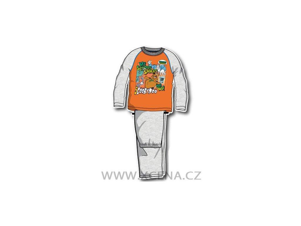 Scooby doo pyžamo oranžové typ A