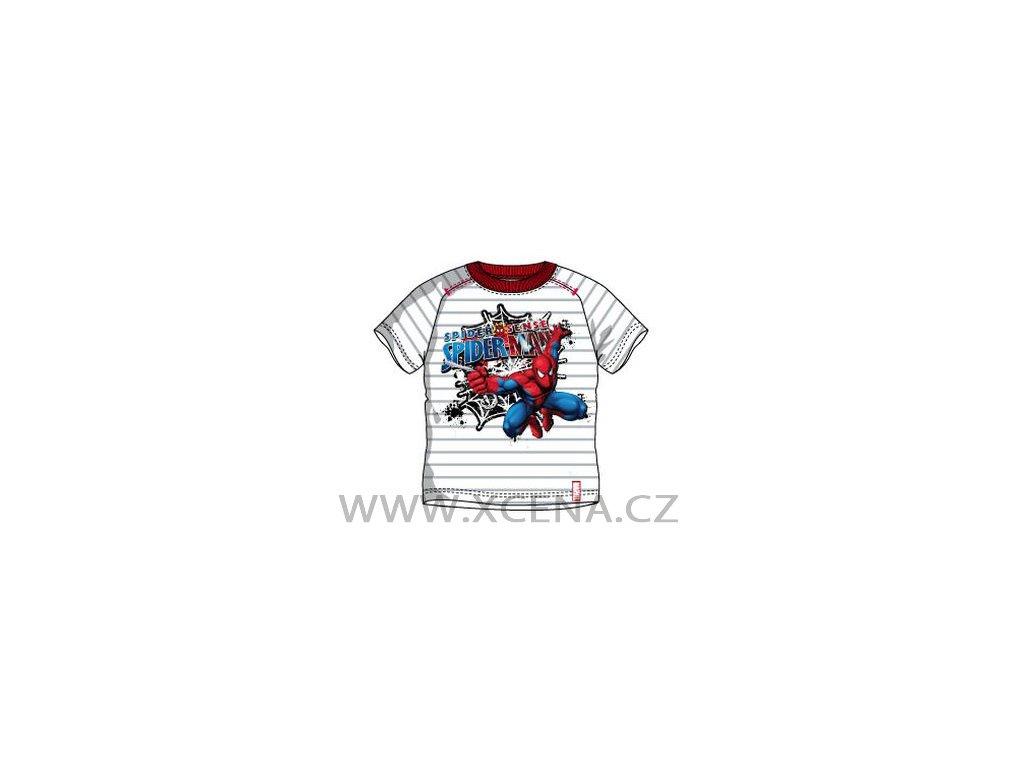 Spiderman trika bílé model A1