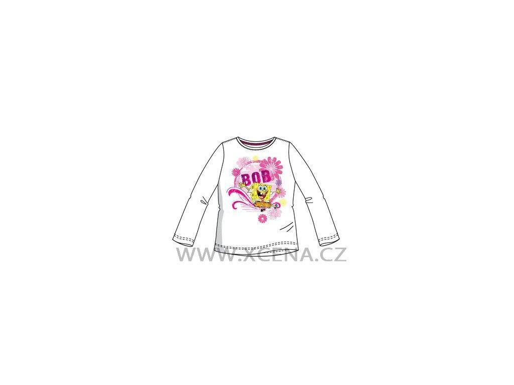 Sponge Bob tričko dívčí bílé