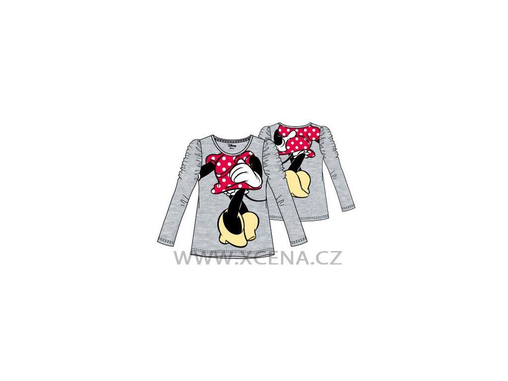 Trička Minnie Mouse šedé