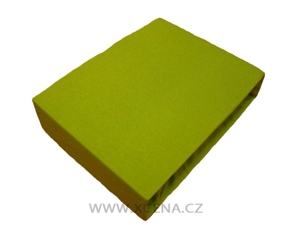 Bavlněné prostěradlo světle zelené 160x200