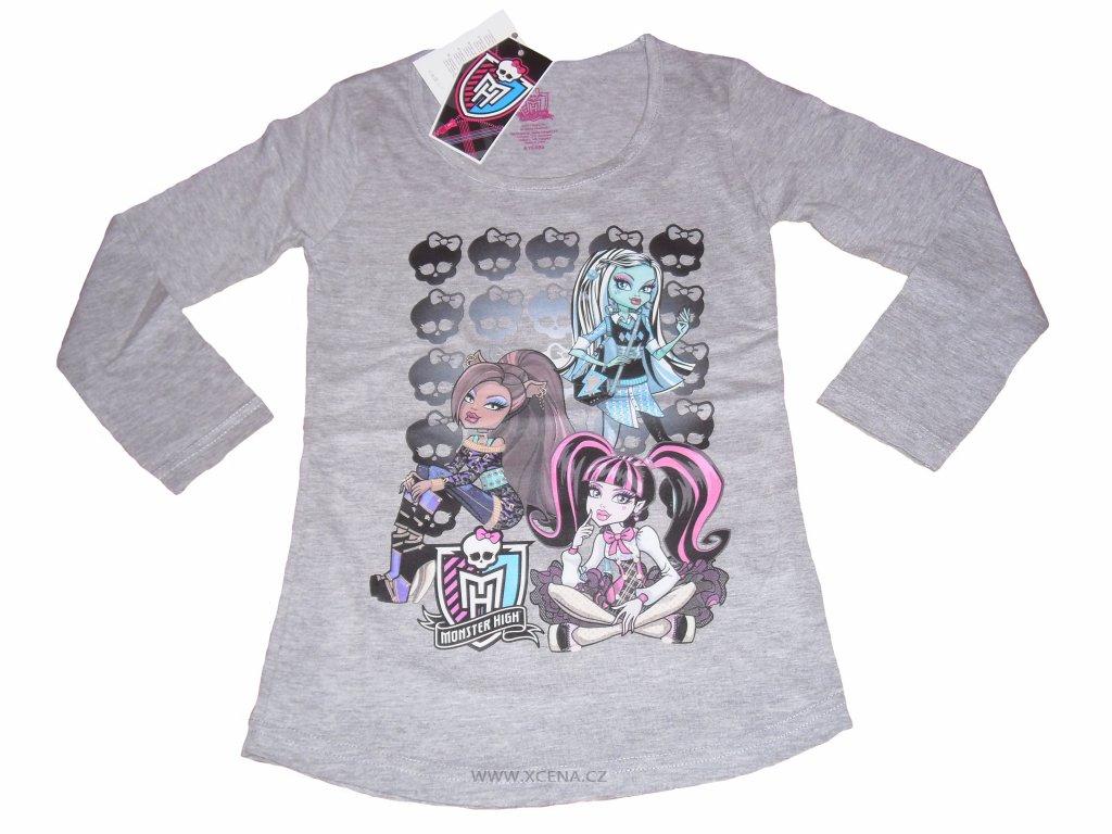 Monster High trička světle šedé