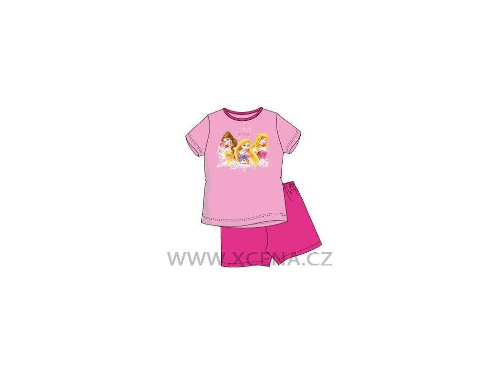 Dívčí pyžamo Princess růžové