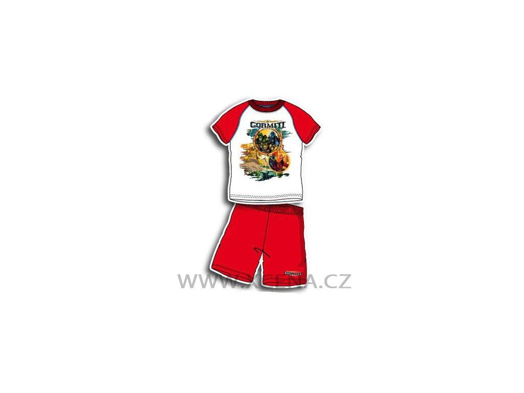 Gormiti pyžama chlapecké bílé s červenou