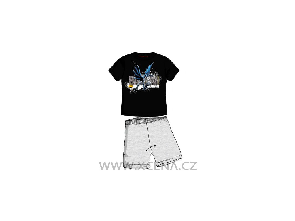 Batman chlapecké pyžamo černé se šedou