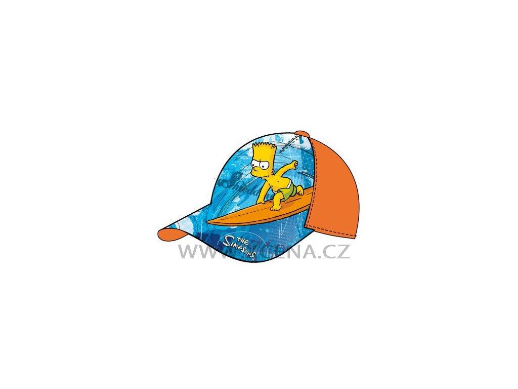 Bart Simspson čepice kšiltovka oranžová