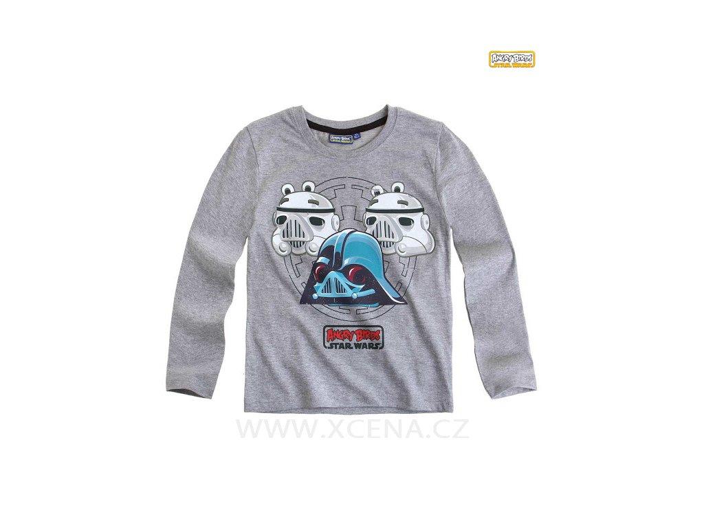 Tričko Angry Birds světle šedé