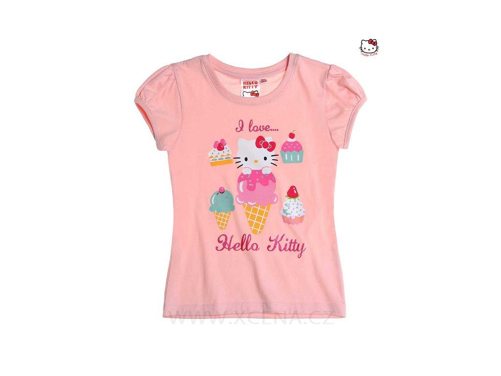 Helo Kitty tričko barvy růžové