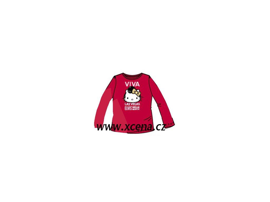 tričko Hello Kitty tmavě červená