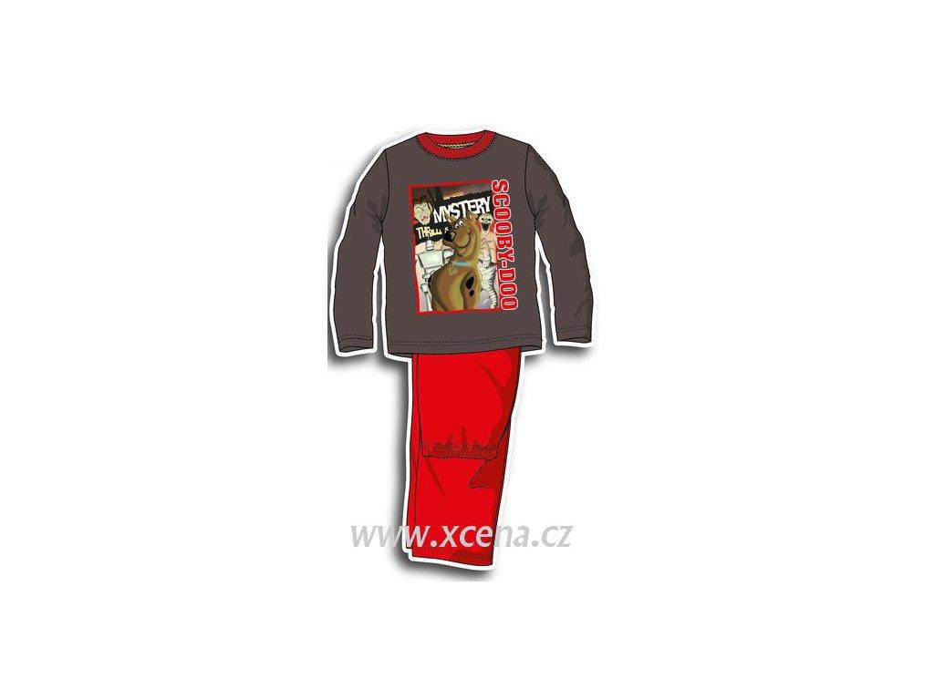 Scooby doo pyžamo červené model A1