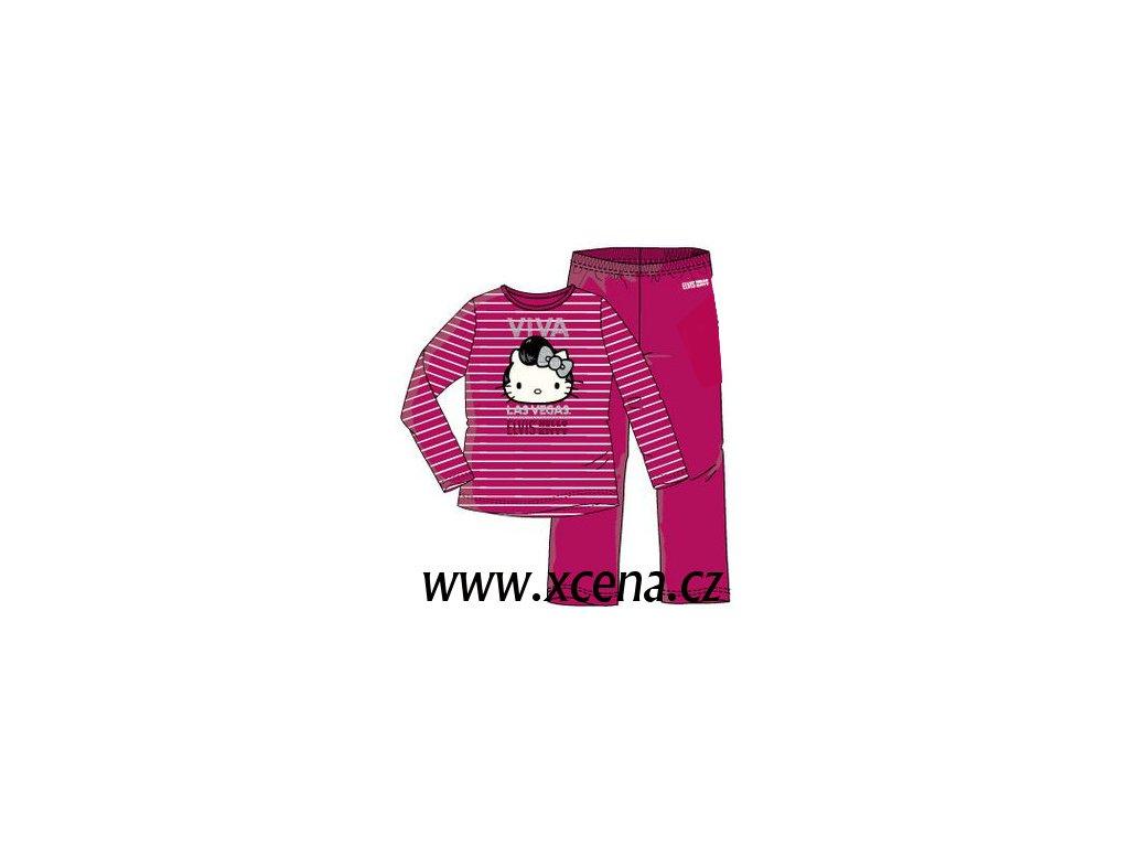 Pyžamo Hello Kitty tmavě růžové