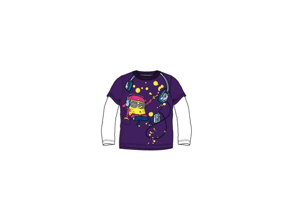 Sponge bob tričko fialové model A1