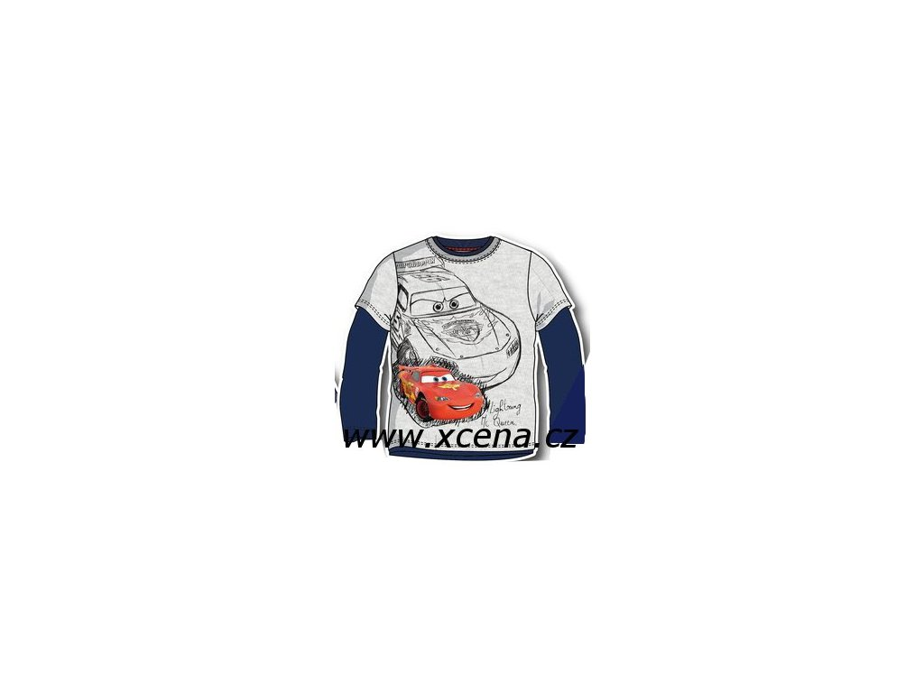 Cars tričko chlapecké šedomodré