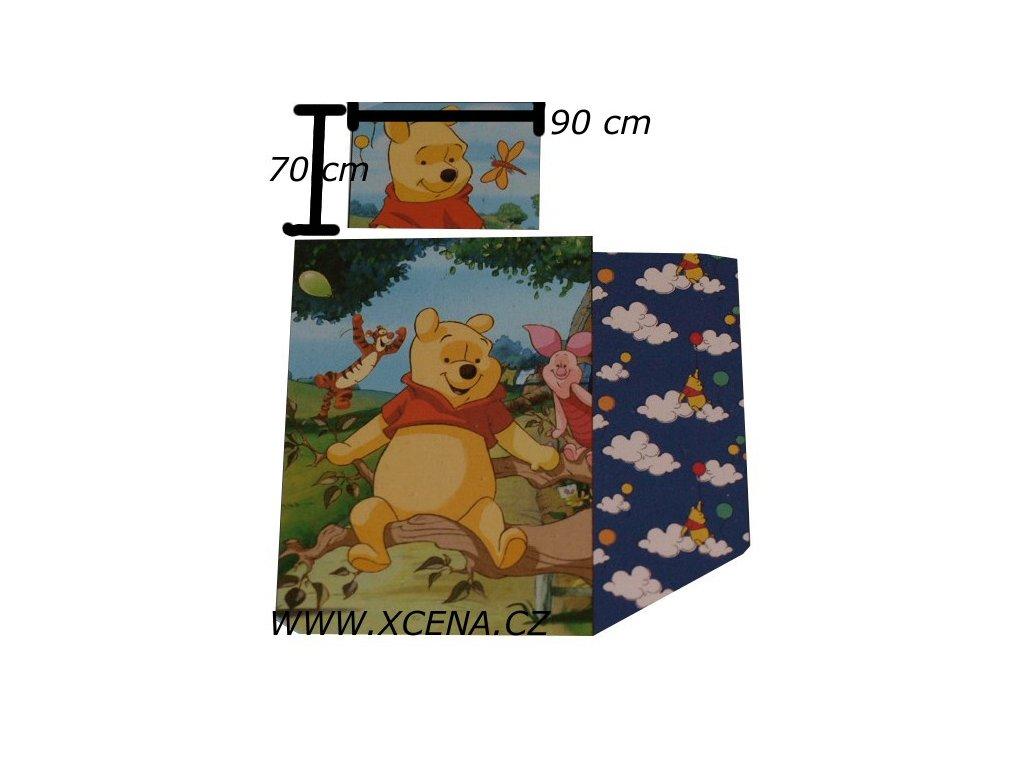 Povlečení medvídek Pooh velké 140/200 70/90
