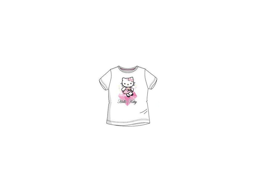 Hello Kitty tričko dívčí bílé
