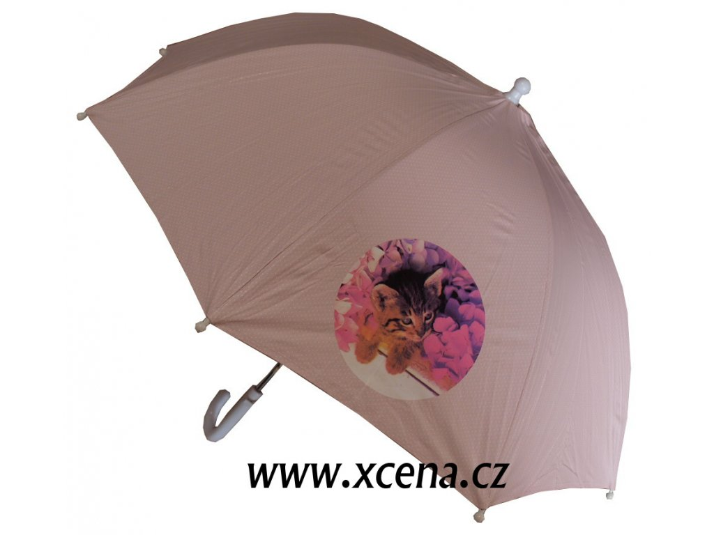 Deštník růžový s kočičkou model A