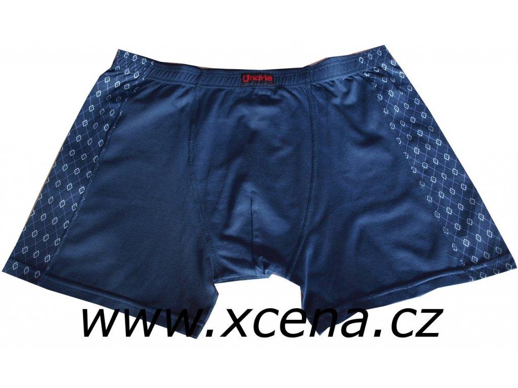 Boxerky pánské s delší nohavičkou modré