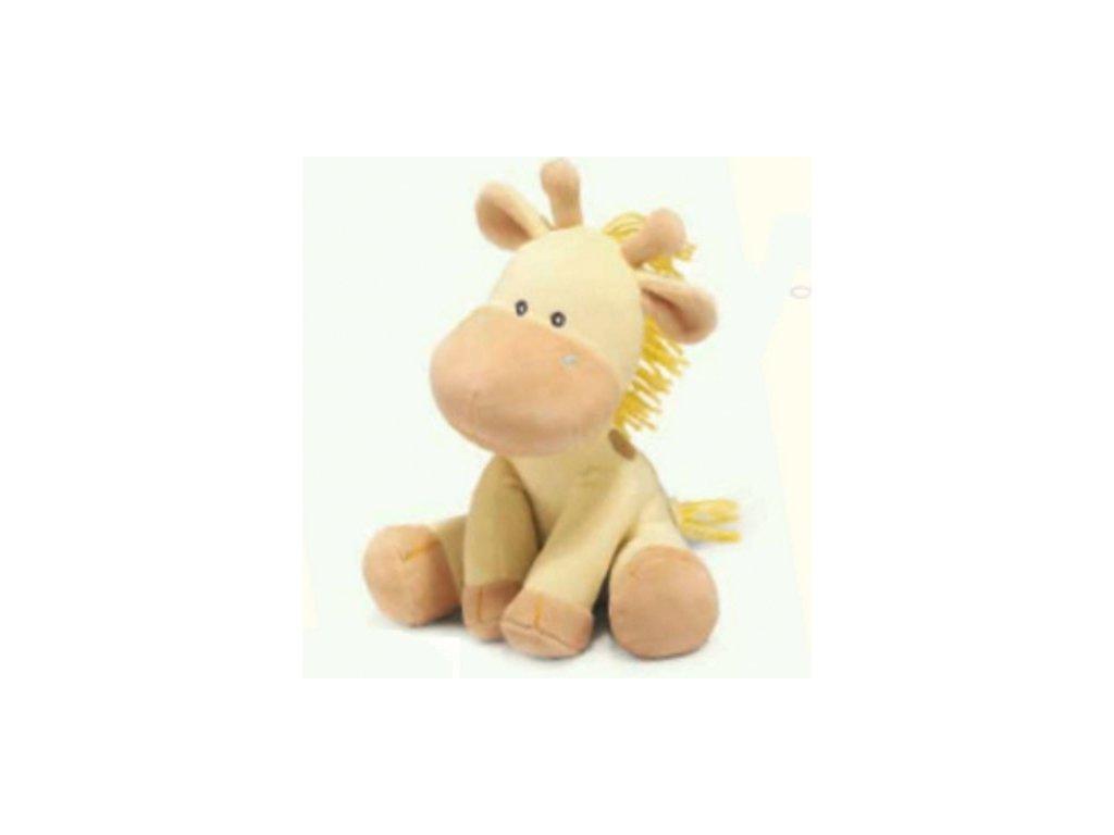 Plyšová žirafa na klíček hrací