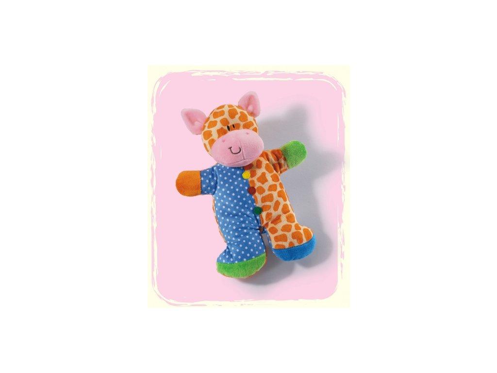Hrkáček žirafa plyšová
