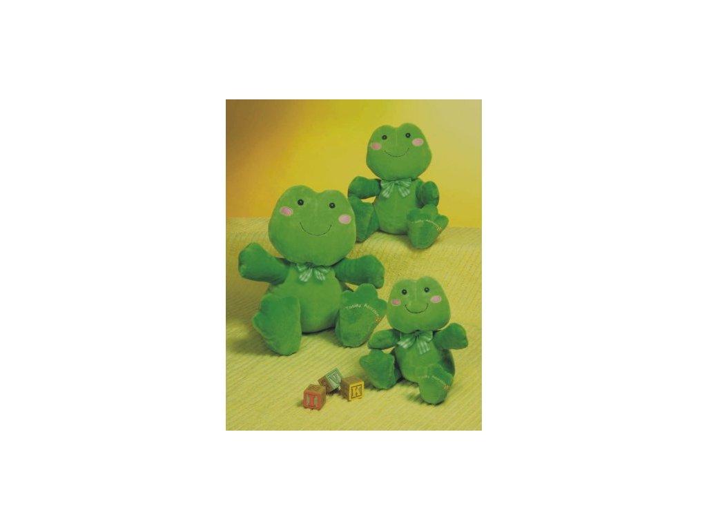 Hračka plyšová žabka s mašličkou