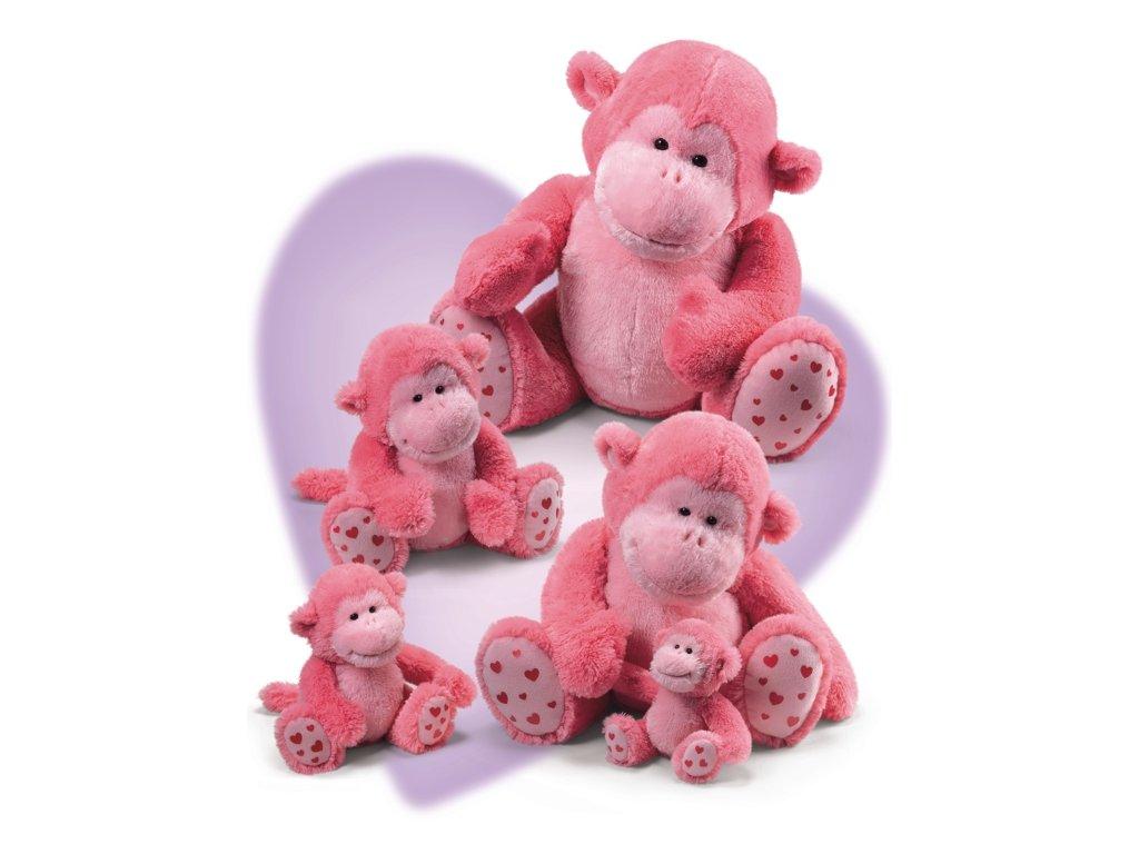 Opice sedící růžová