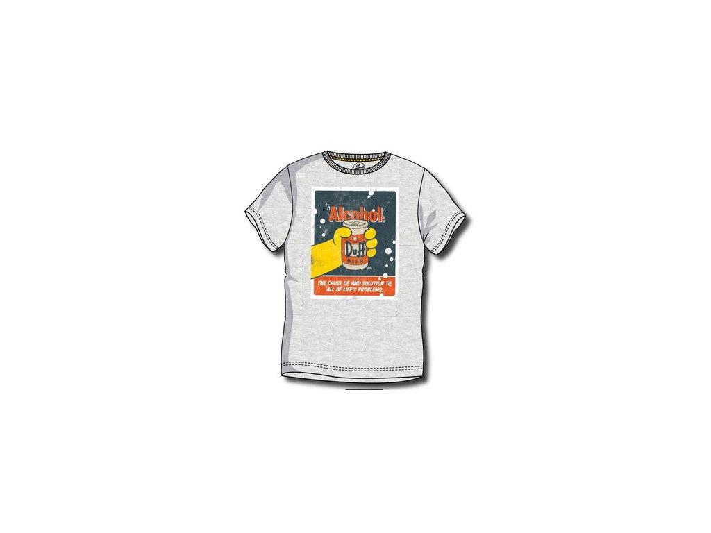 Bart Simpsons trička šedé A