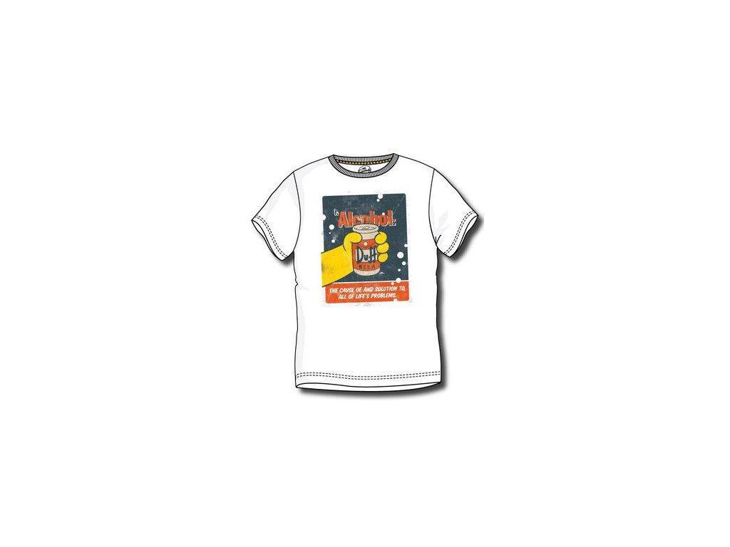 Bart Simpsons tričko bílé A