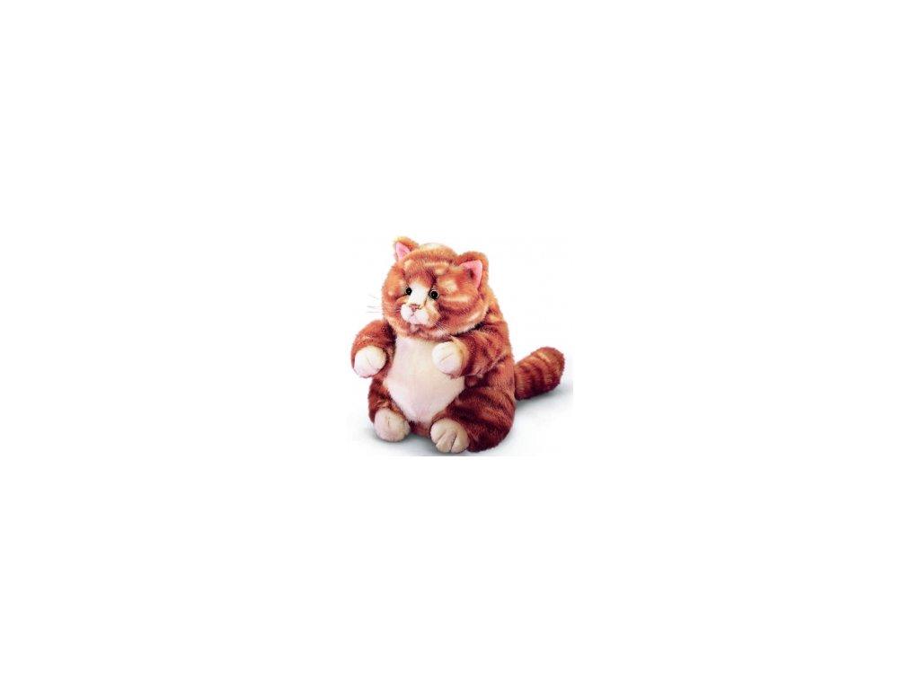 Plyšová kočka baculka žíhaná zrzavá