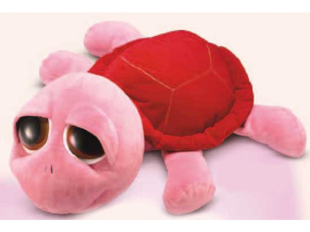 Hračka plyšová želvička růžovočervená