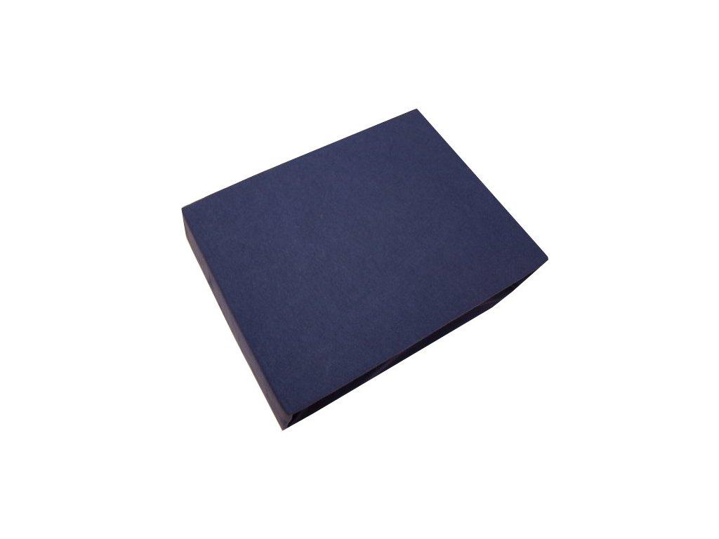Prostěradlo bavlněné modré 160x200 cm