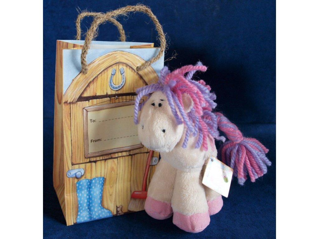 Koníček Pony fialový + dárek