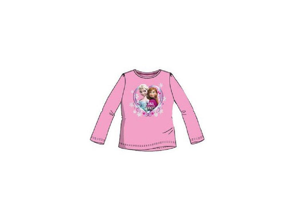 dedf3023571f Frozen Anna a Elsa trička Disney růžové - www.xcena.cz