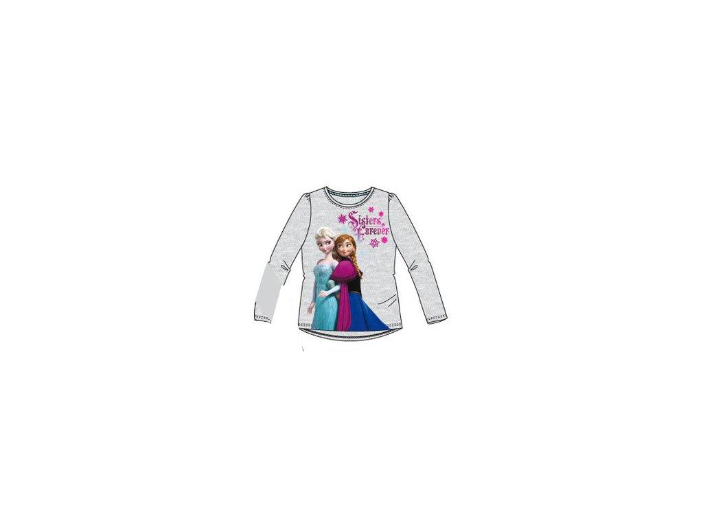 Frozen Anna a Elsa tričko Disney šedé