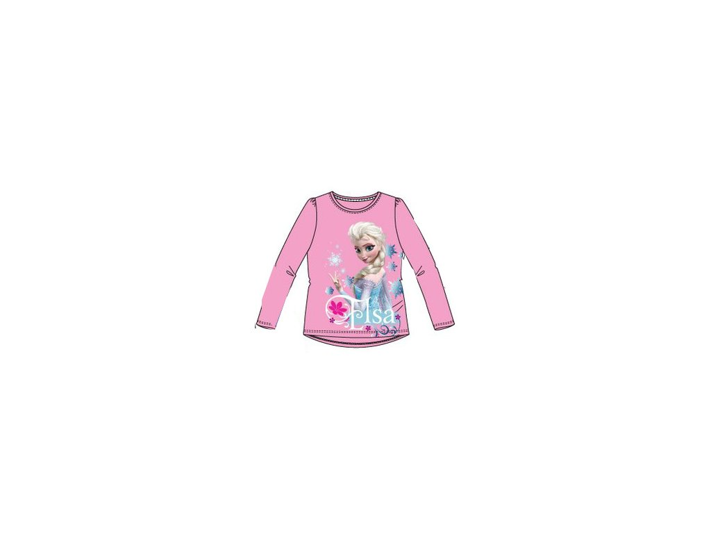 Frozen Anna a Elsa tričko růžové Disney