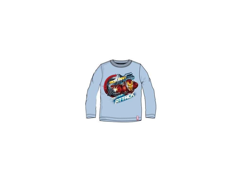 Iron Men Avengers tričko modré