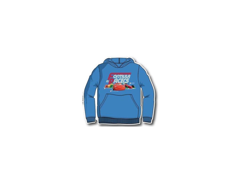 Mikina chlapecká Cars světle modrá