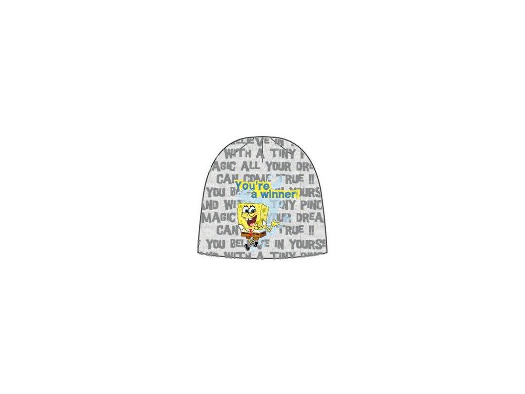 Čepice zimní Sponge Bob šedá