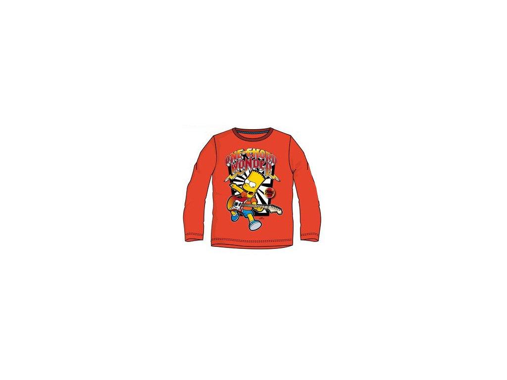 Bart Simpson tričko dětské oranžové