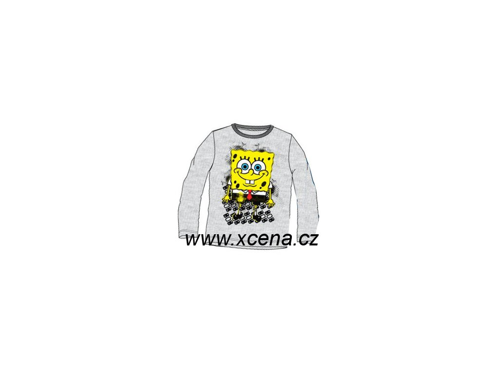 Dětské tričko Sponge Bob světle šedé