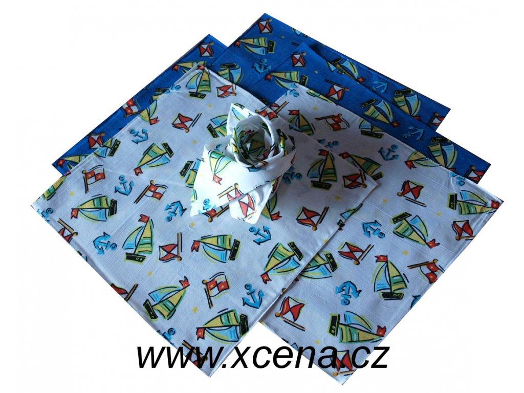 Dětské kapesníčky s plachetnicí