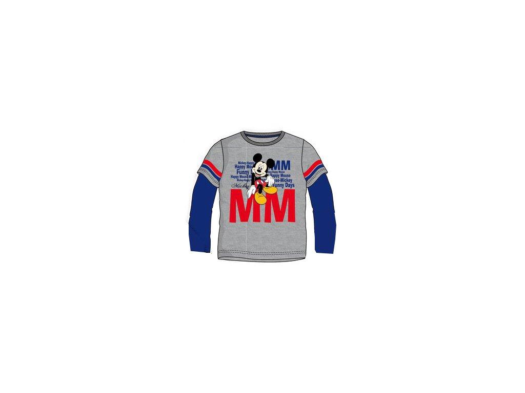 Mickey Mouse tričko šedé model A