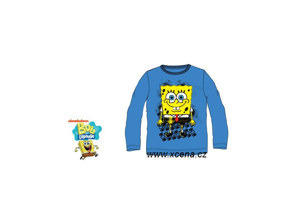 Sponge Bob tričko modré model A1