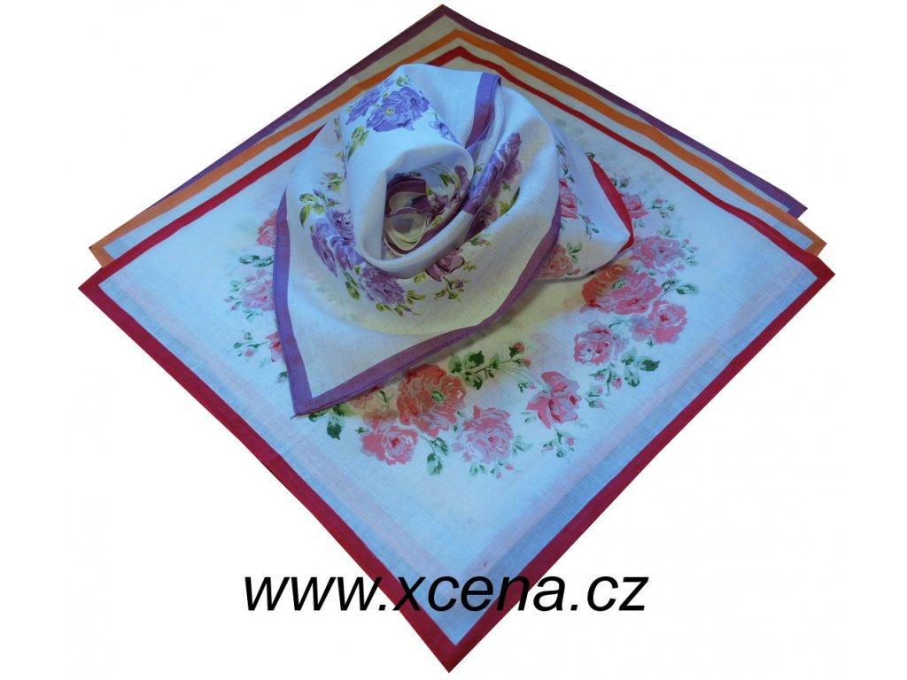 Kapesníky s růžemi 30x30cm