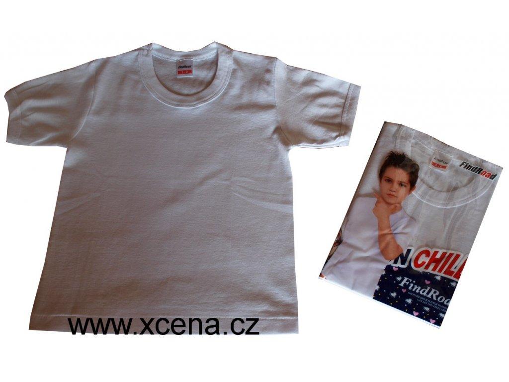 Dětské tričko bavlněné bílé