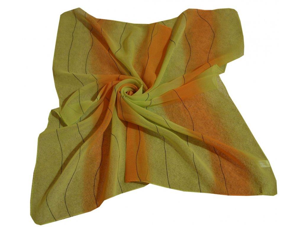Šátek dámský s vlnkou