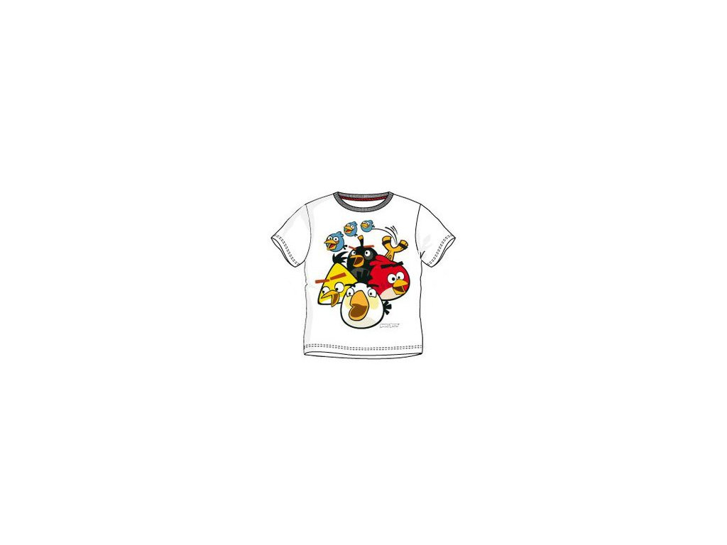 Dětská trička Angry Birds bílá