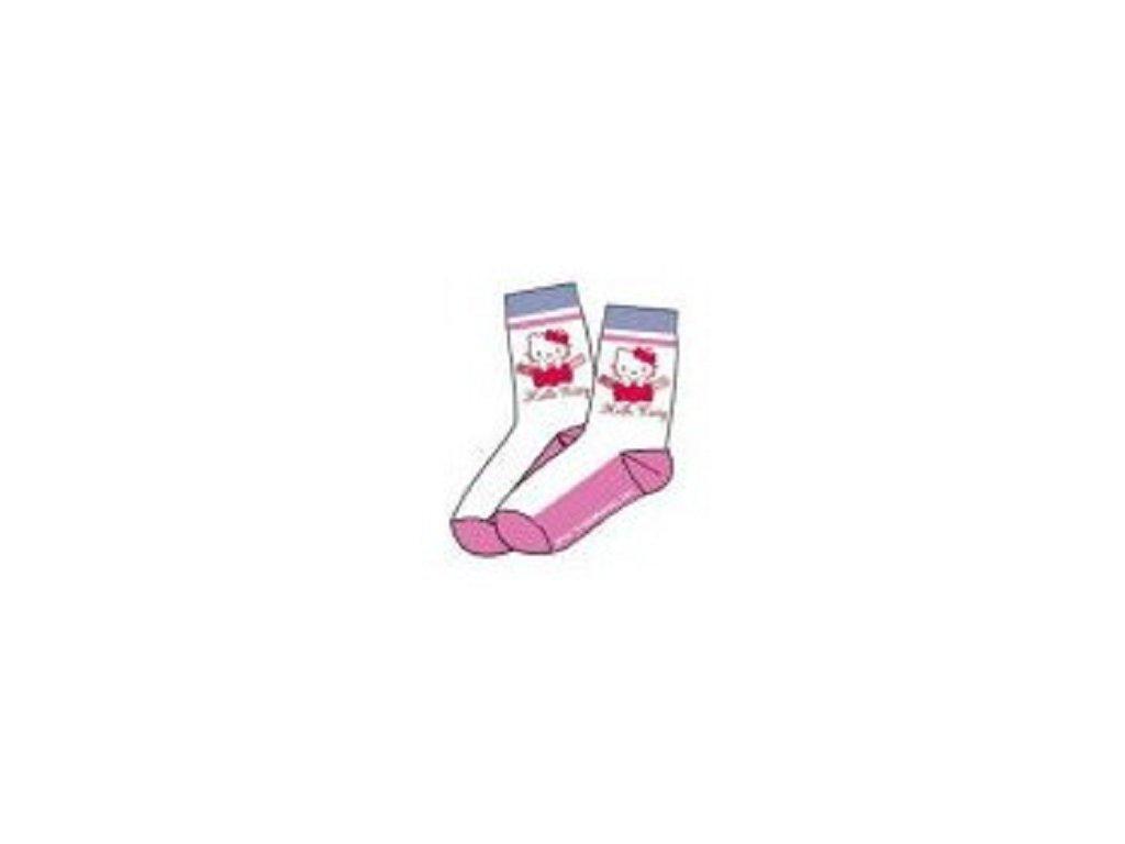9a6068c1f5d Hello Kitty ponožky bílé s růžovou - www.xcena.cz